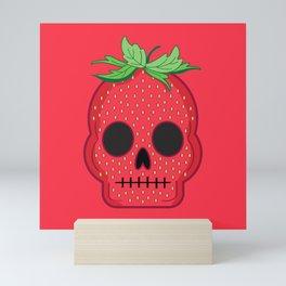 Strawberry Skull Mini Art Print