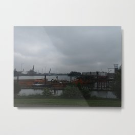 Hamburg Harbour Metal Print
