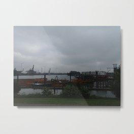 Hamburg Harbour Metal Print