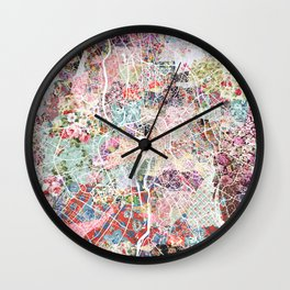 Toulouse map Wall Clock
