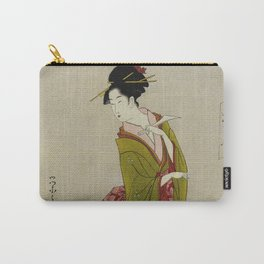 Itsutomi - Vintage Japanese Woodblock Carry-All Pouch