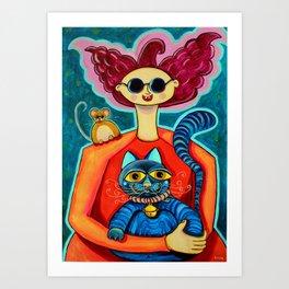 Gato hipnótico Art Print