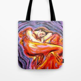 Flaming June at Night Tote Bag