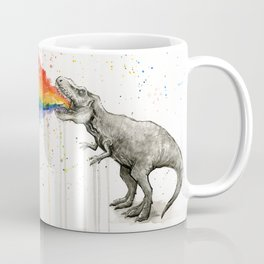 T-Rex Dinosaur Rainbow Vomit Taste the Rainbow Coffee Mug