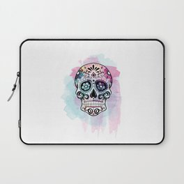 Watercolor Sugar Skull Laptop Sleeve