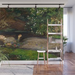 Ophelia from Hamlet Oil Painting by Sir John Everett Millais Wall Mural