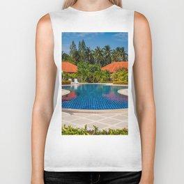 Tropical Paradise Biker Tank