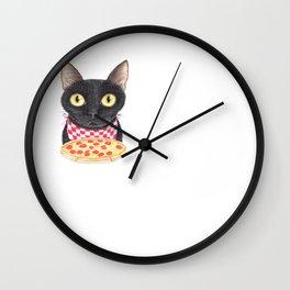 Starving cat Wall Clock