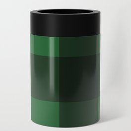 Green and Black Plaid Can Cooler