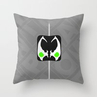 spawn Throw Pillows featuring Marshmallow Spawn by Oblivion Creative