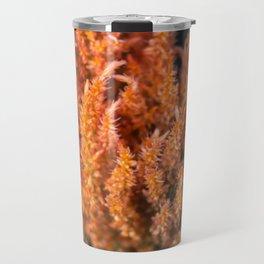 Orange Celosia Travel Mug