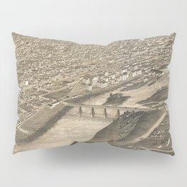 Vintage Pictorial Map of Minneapolis MN (1879) Pillow Sham