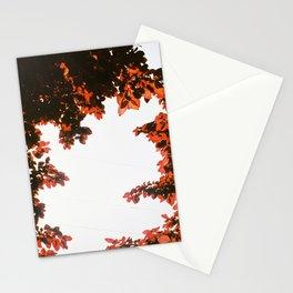 Red Leaf Monster Stationery Cards