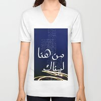 lost in translation V-neck T-shirts featuring Translation by Ayman Itani