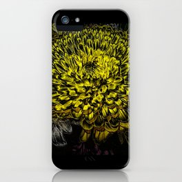 Black yellow art iPhone Case