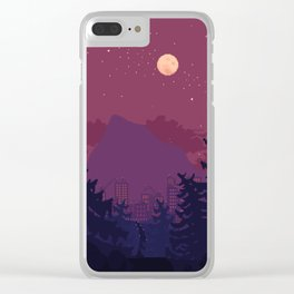 Dark Trail Clear iPhone Case