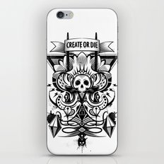 Create or Die iPhone & iPod Skin