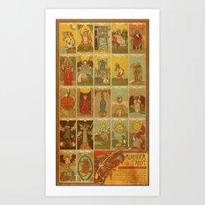 Muroidea Rat Tarot- Whole Set Art Print