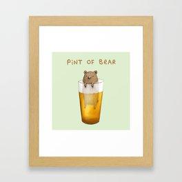 Pint of Bear Framed Art Print
