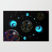 starry night Canvas Prints featuring Starry Starry Night by inkedsandra