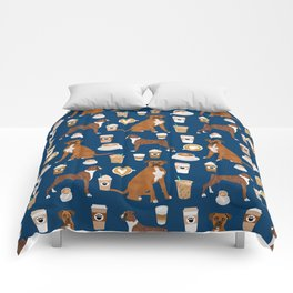 Boxer dog breed coffee pet gifts boxers pupuccino Comforters