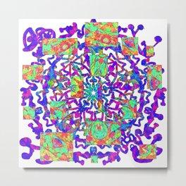 Psychedelic Purple And Orange Vortex Metal Print