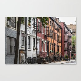 Picturesque street view in Greenwich Village, New York Canvas Print