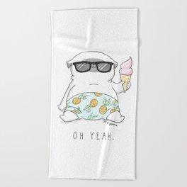 Oh Yeah Beach Towel
