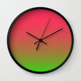 Fuchsia and Lime Gradient Wall Clock