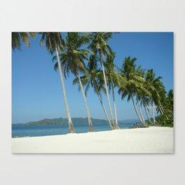 White Sandy Beaches  Canvas Print