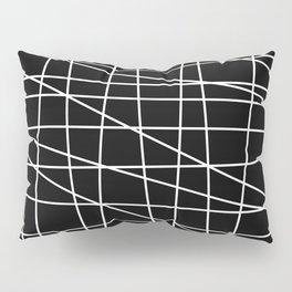 Gossamer. Black and white.1 Pillow Sham