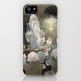 They've come for tea, & for supper, & for you iPhone Case