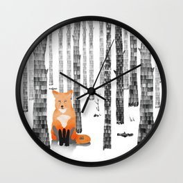 Out of the woods Wall Clock