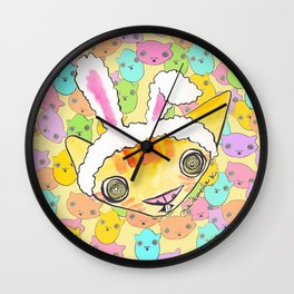"""Oro?"" Easter Bunny Wall Clock"