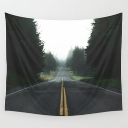 Foggy Road Wall Tapestry