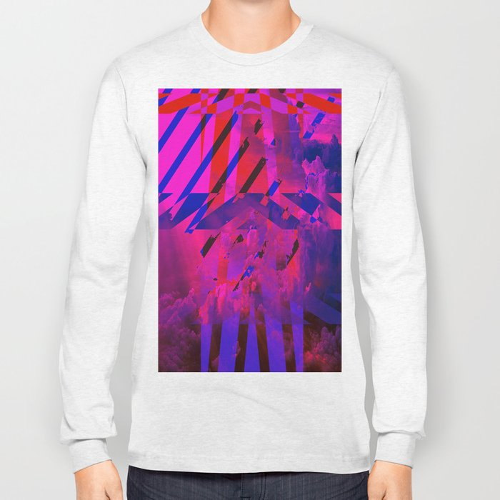 Clouds Mingle with Lines Long Sleeve T-shirt