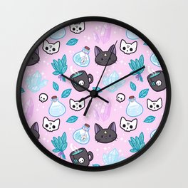 Herb Witch // Pink Wall Clock