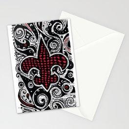 Fleur de Lis Magenta Stationery Cards