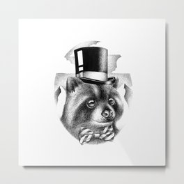 PROPERLY DRESSED FOR A SPECIAL OCCASION Metal Print