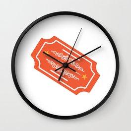 Ticket Ride or Die Wall Clock