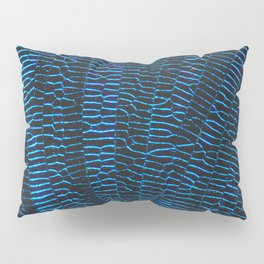 Dragonfly shiny vibrant blue wings Pillow Sham
