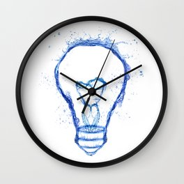 Water splash Bulb Wall Clock