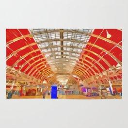 Paddington Railway Station Pop Art Rug