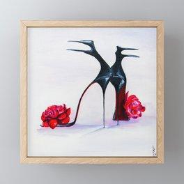 Luxury shoes Framed Mini Art Print