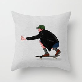 Skate Movemente Throw Pillow