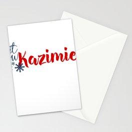 Snow in Kazimierz Stationery Cards