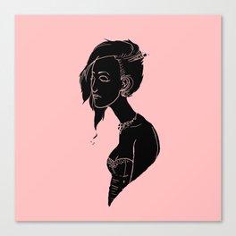 Silhouette Bust  Canvas Print