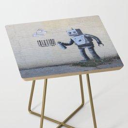 Banksy Robot (Coney Island, NYC) Side Table