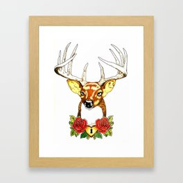 Oh deer. Framed Art Print