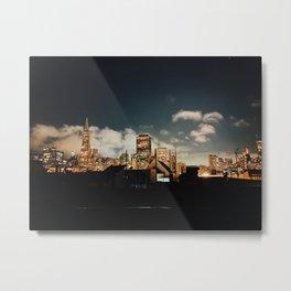 San Francisco Skyline at Night Metal Print